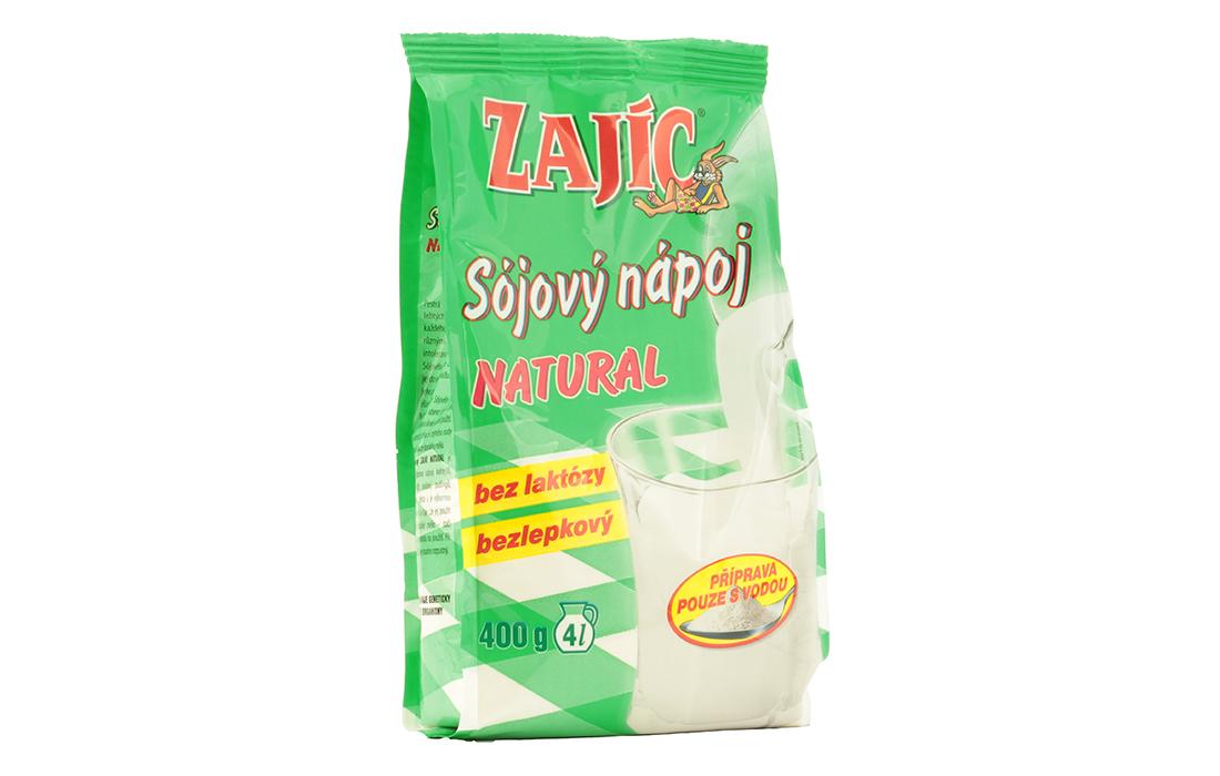 Zajíc - sójový nápoj natural sáček - Mogador 400g